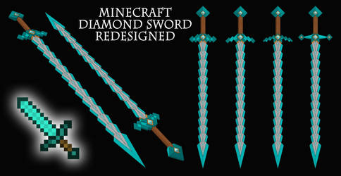 Minecraft Diamond Sword REDESIGNED!
