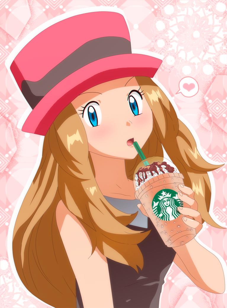 Serena En Starbucks by RMizukaze on DeviantArt