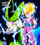 Gohan vs Cell - 30 anniversary Dragon Ball by RMizukaze