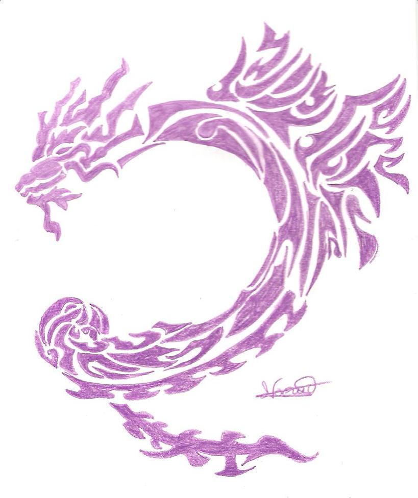 purple dragon tattoo by mireie on deviantart. Black Bedroom Furniture Sets. Home Design Ideas