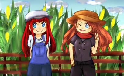 Stardew Valley farmers by LyricalJelly
