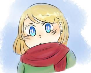 Doddle scarf girl by LyricalJelly