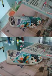 dia de Muertos shoes by gattacicova