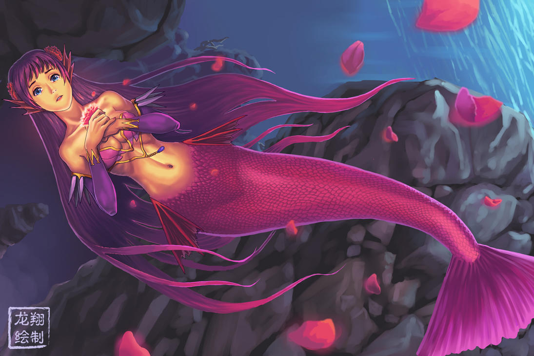 Sad Oriental Mermaid by ShinRyuShou