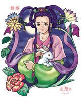 Chang Er the Moon Goddess by ShinRyuShou