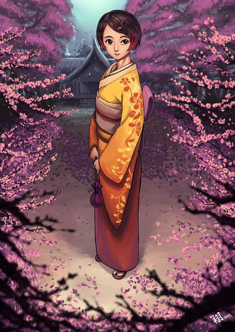 Xiao Yue in kimono suit by ShinRyuShou