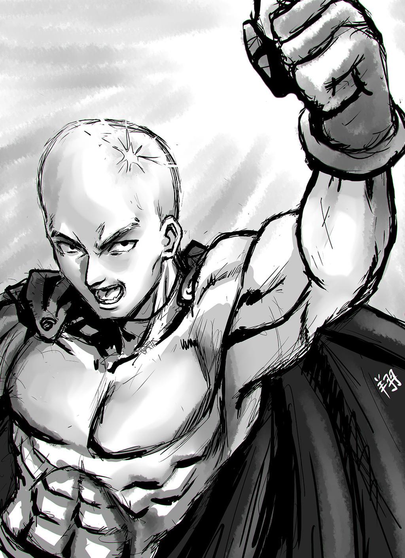 Onepunchman72dpi sketch by ShinRyuShou