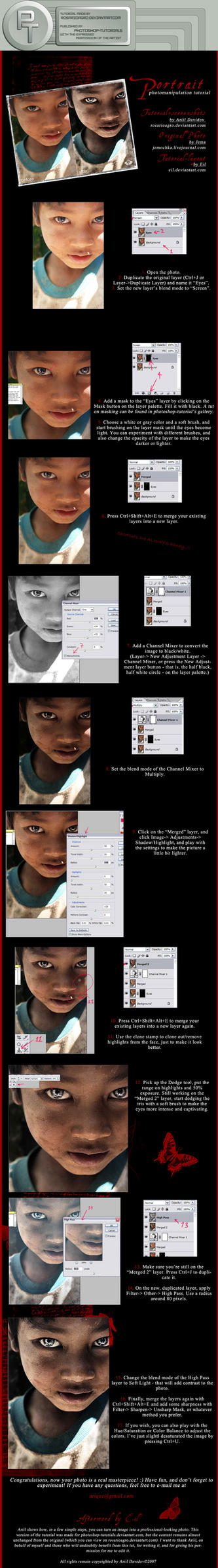 Portrait Manipulation -T- by photoshop-tutorials