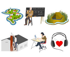 Illustrations for e-learning by Rifificz
