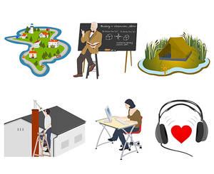 Illustrations for e-learning