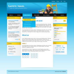 Webnode template