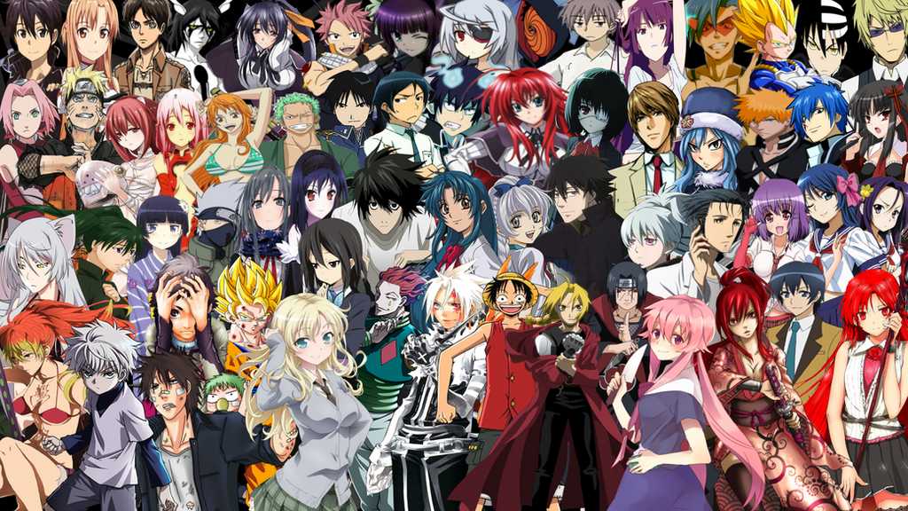 anime compilation wallpaper