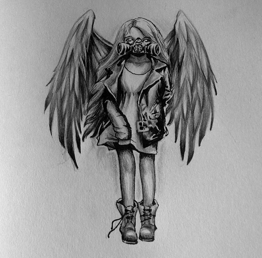Gas Mask Angel by iemmameijer on DeviantArt
