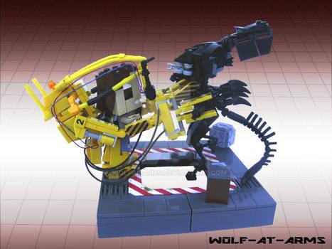 LEGO cubedude powerloader vs alien
