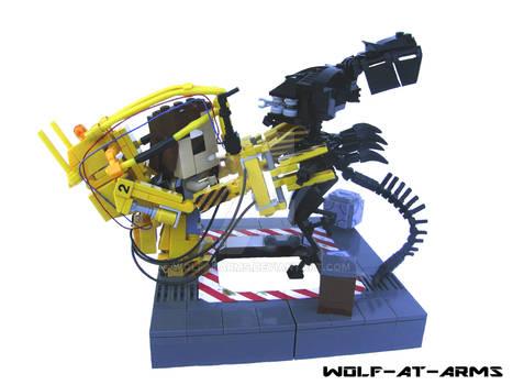 Alienqueen vs Powerloader Lego
