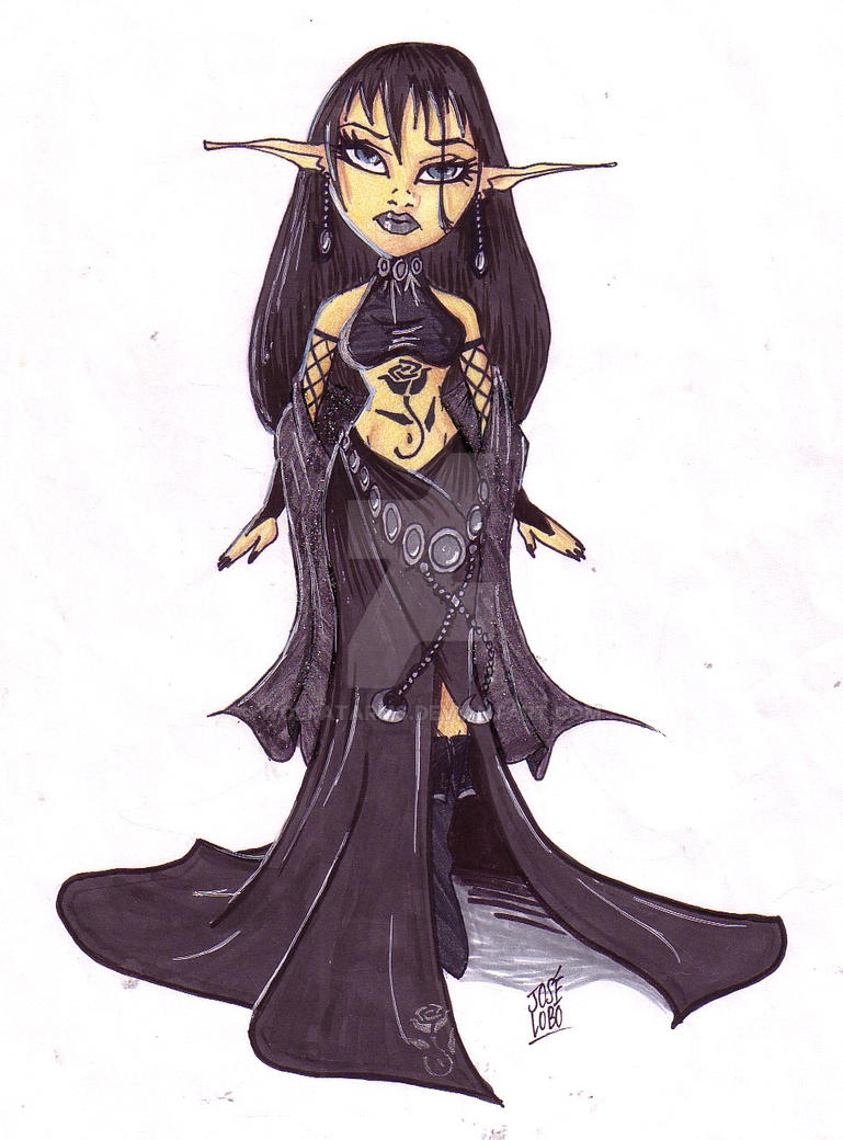 Darken Elf Princess by Wolfatarms