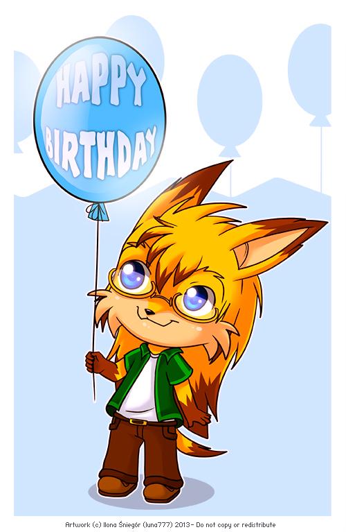 Birthday Balloon by luna777
