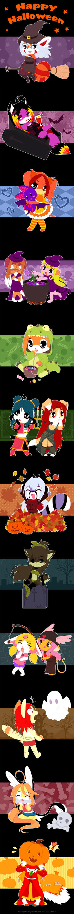 Halloween chibis 2013 by luna777