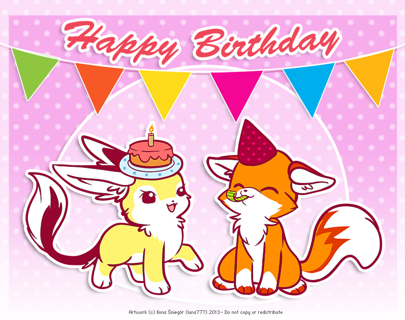 Happy Birthday Foxy by luna777