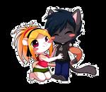 Chibi Trixie and Bronek - Commish