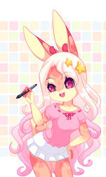 Lila with pen by luna777