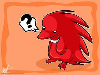 Lil Red Echidna by luna777