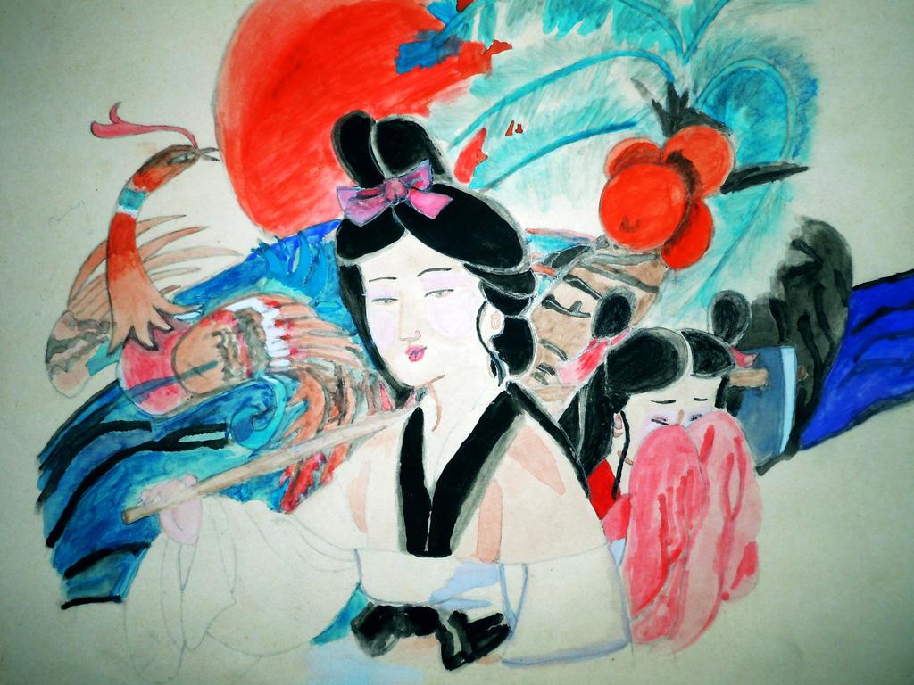Japanese girl by Bushaqua