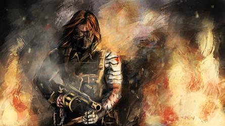 Winter Soldier - II by SkyManateeStudios