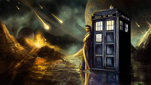 The Doctor and the Tardis by SkyManateeStudios