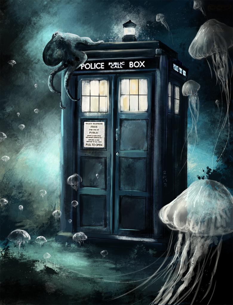 Underwater Tardis by Jay-R-Took