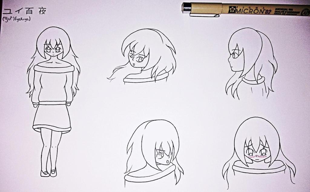 Yui Hyakuya (fan baby) boceto by misdibujos08