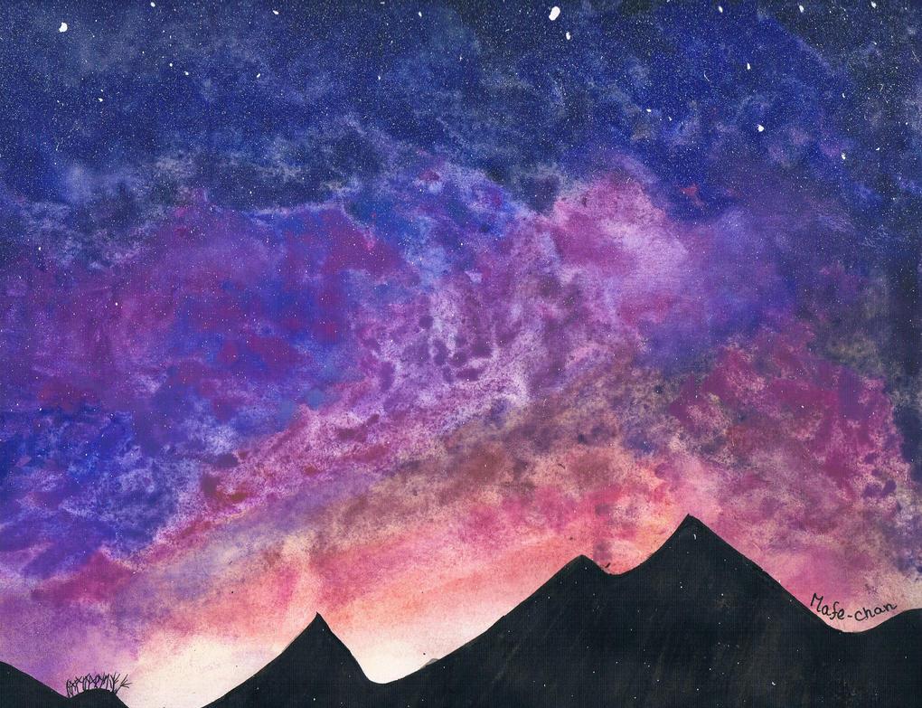 cielo estrellado by misdibujos08