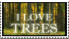 I Love Trees Stamp II by CapturedCosmicDebris