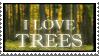 I Love Trees Stamp II