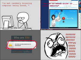 RAGE COMIC: Anime Sites by dawnleapord