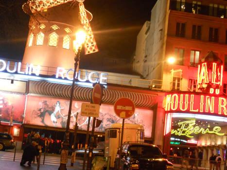 The Moulin Rouge : Paris, France