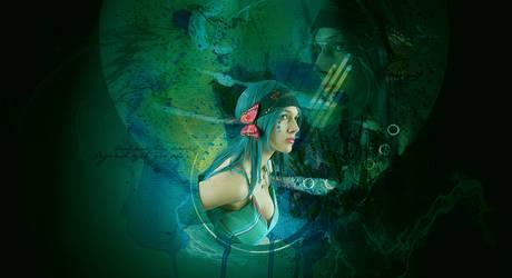 Cyan Girl by quillofphoenix