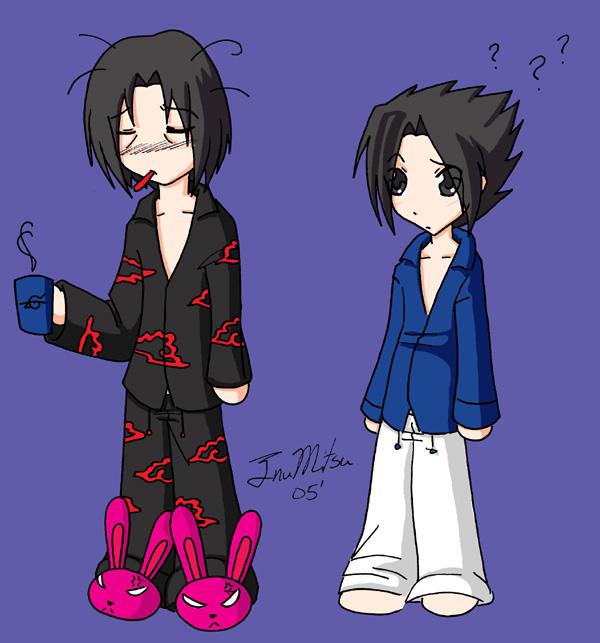 Itachi's pajamas by InuMitsu