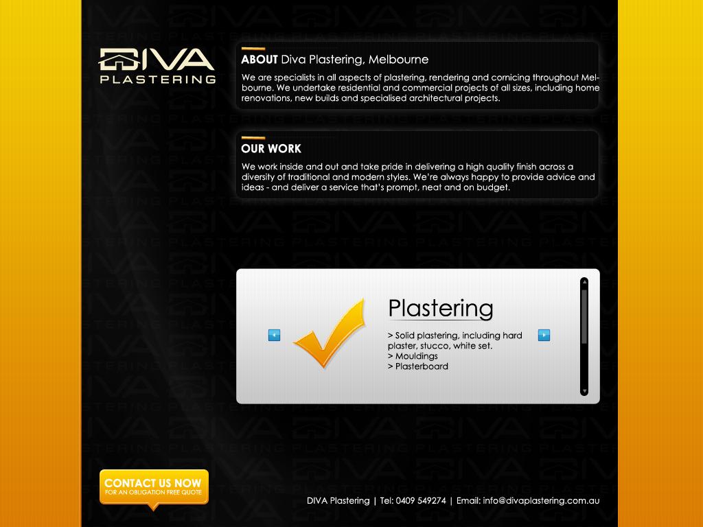 Diva Plastering Web Design by gillesvalk on DeviantArt