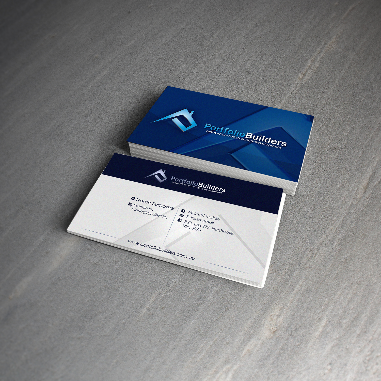 Portfolio Builders Business Card Design by gillesvalk on DeviantArt