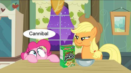 Applejack eats Applejacks by SwiftgaiatheBrony