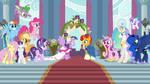 Twilight and Sunburst's wedding