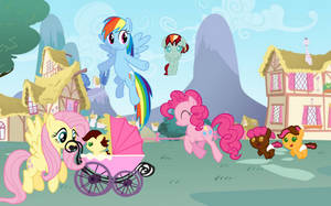 Walking with the babies by SwiftgaiatheBrony