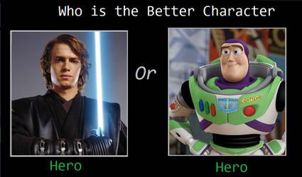 Anakin Skywalker or Buzz Lightyear?