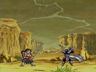 Mitsurugi Vs Utrom Shredder sprite