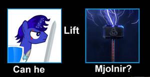Could Branding Blade lift Mjolnir?