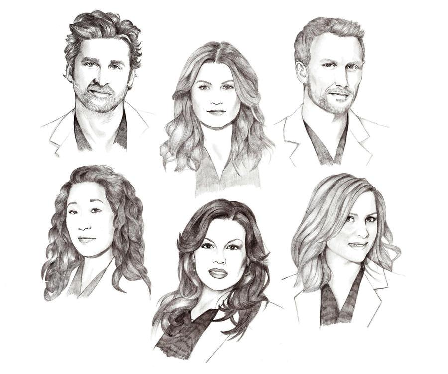 Grey\'s Anatomy cast by Lady-Hannah on DeviantArt