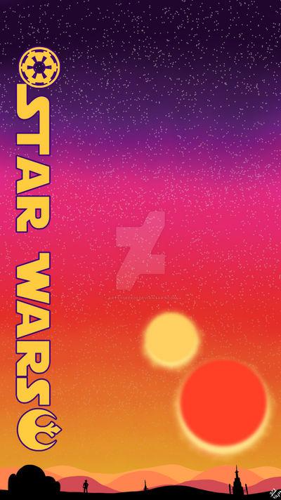 Star Wars Tatooine Sunset Iphone Wallpaper By Artsygeek02 On Deviantart