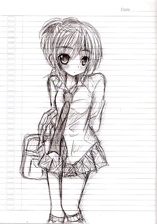 School Girl Sketch By V-Lzz11 On DeviantArt