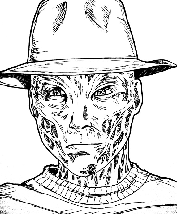 freddy krueger coloring pages - the gallery for killer chucky coloring pages